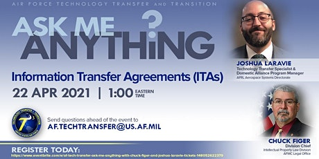AF Tech Transfer Ask Me Anything with Chuck Figer and Joshua Laravie tickets