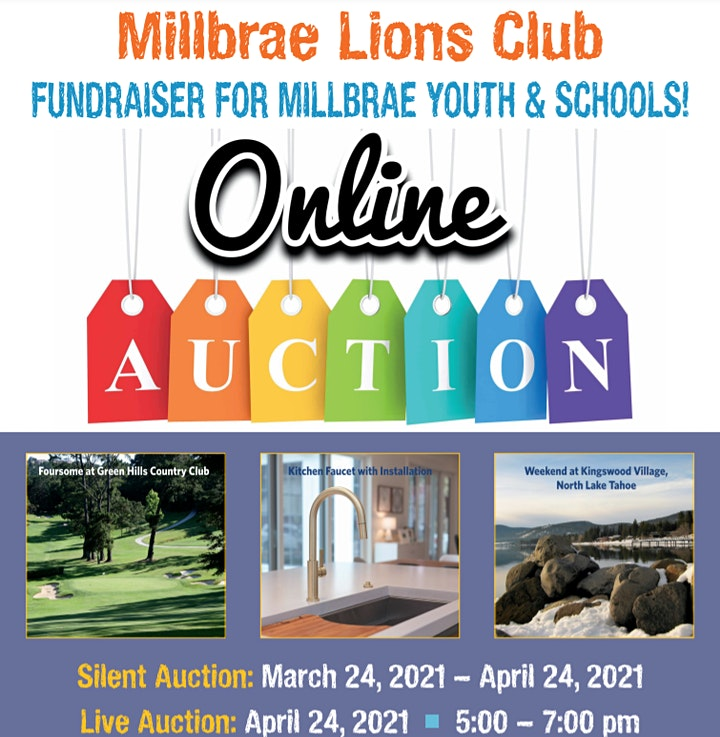 """Millbrae Lions Club """"Movers and Shakers"""" Online/Silent Auction image"""