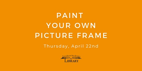 Paint Your Own Picture Frame tickets