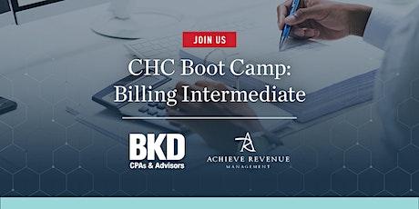 CHC Boot Camp: Billing Intermediate Concepts & Updates tickets