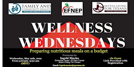 Wellness Wednesday- Preparing nutritious meals on a budget tickets