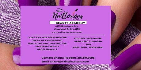 Nailtorious Iconz Beauty Academy ~ New Student Open House tickets
