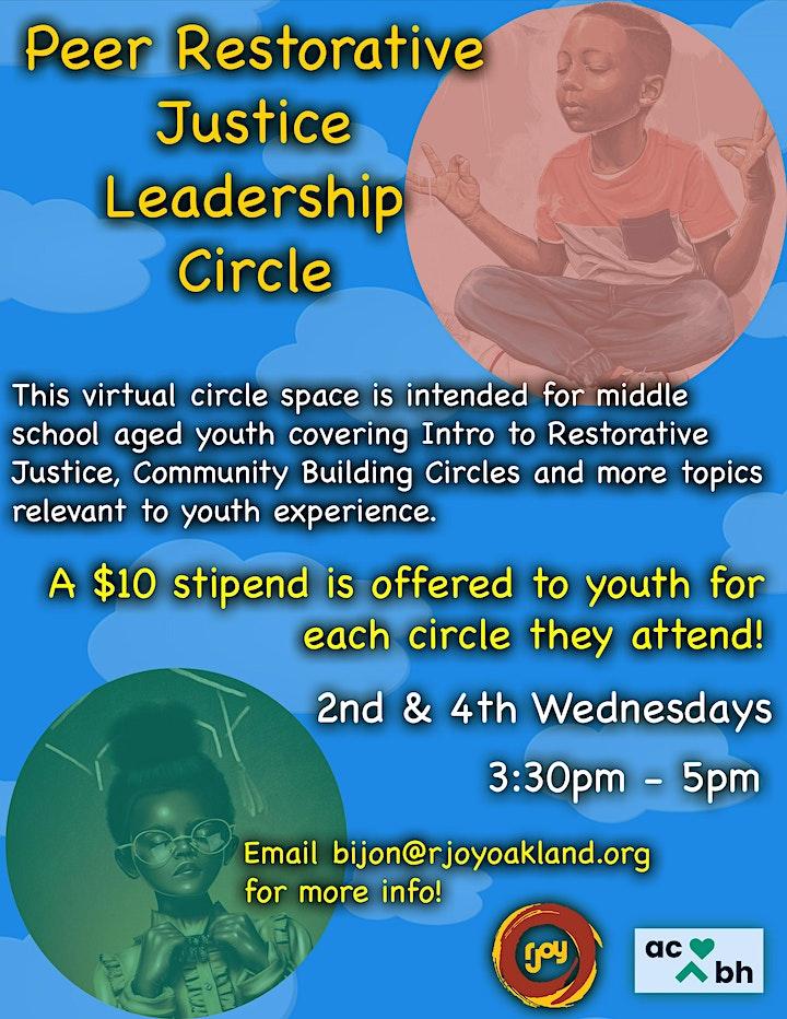 Peer Restorative Justice Leadership Circle image