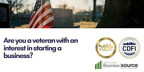 Veterans Entrepreneurship Training tickets