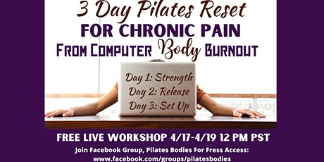 3 Day Pilates Reset For Computer Body Burnout tickets