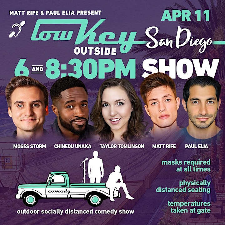 Lowkey Outside Comedy- San Diego 8:30pm image