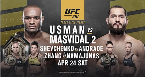 Watch UFC 261: Usman Vs Masvidal 2 PPV Full Fight 4/24/21