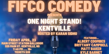 FIFCO COMEDY PRESENTS .. ONE NIGHT STAND tickets