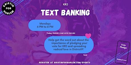 KRJ Text Banking tickets