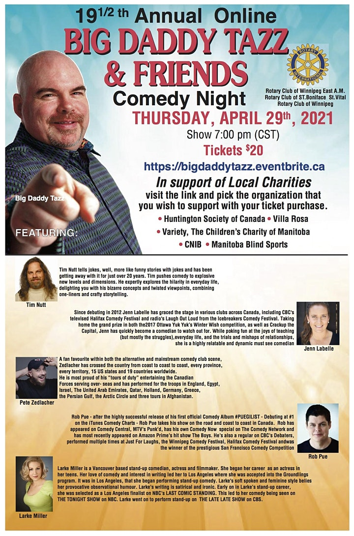 Big Daddy Tazz and Friends Comedy Night - Online Event image