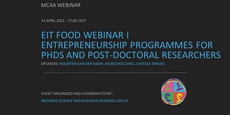 EIT Food - Entrepreneurship Programmes for PhDs & Post-doctoral Researchers tickets