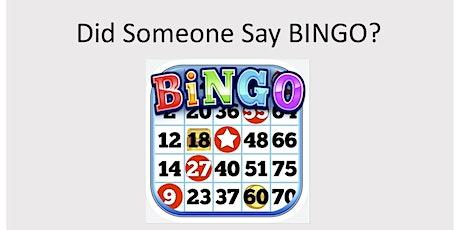 Coffee Shop Bingo tickets