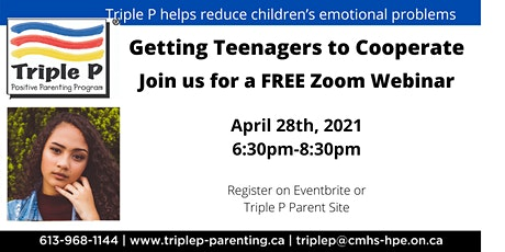Triple P- Getting Teenagers to corporate tickets
