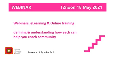 Webinars, eLearning & online training: what's the difference? bilhetes
