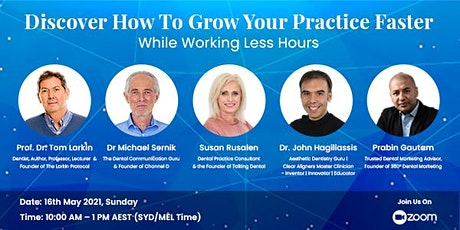 Discover How To Grow Your Practice Faster While Working Less Hours tickets