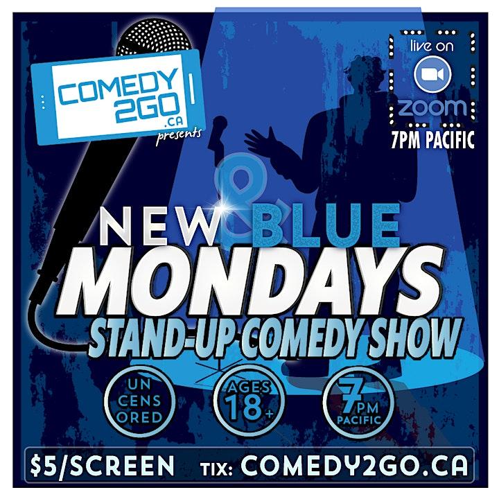 New & Blue Mondays | Live Online Comedy Show image