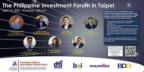 The Philippine Investment Forum in Taipei 2021 tickets