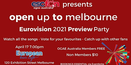 OGAE Australia Melbourne 2021 Eurovision Preview Party tickets