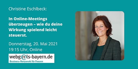 Christine Eschlbeck: In Online-Meetings überzeugen Tickets