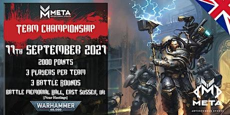 Meta Events Team Championship 2021 - Warhammer 40k Event tickets