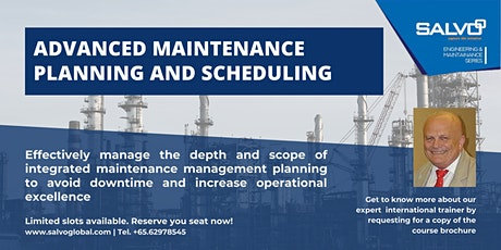 Advanced Maintenance Planning and Scheduling tickets