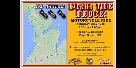 BOMB THE BRUCE Motorcycle Ride 2021 tickets