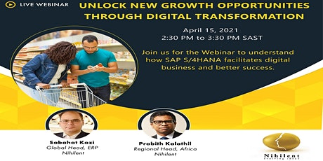 Live Webinar on Unlock New Growth Opportunities through Digital Transformat tickets