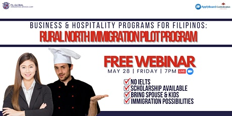 FREE WEBINAR EVENT BUSINESS AND  HOSPITALITY PROGRAMS FOR FILIPINOS tickets