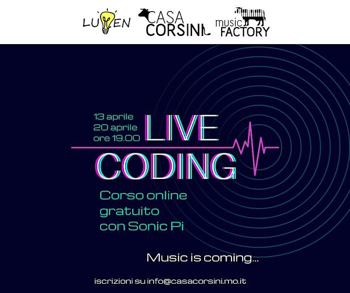 Immagine Live Coding: corso online gratuito di Sonic Pi