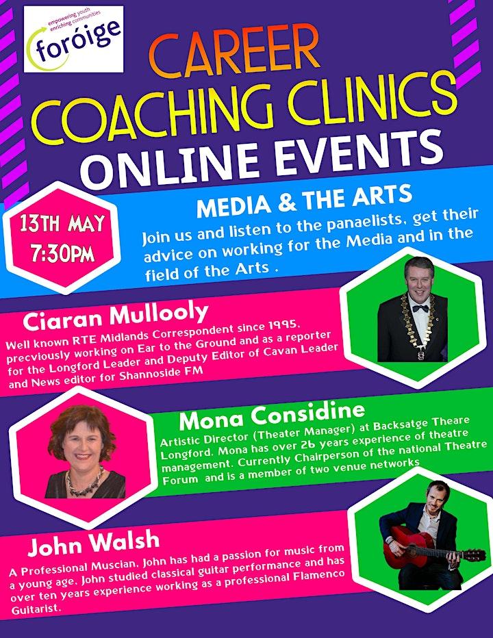Foróige Career Coaching Clinics - Media & The Arts image