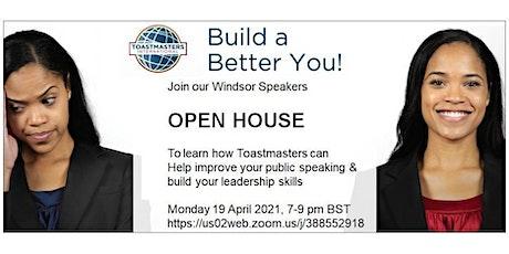 Windsor Speakers Toastmasters Open House Evening (Windsor UK) tickets