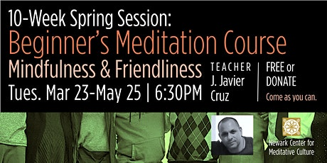 Tuesday Evening Meditation Course: 10-Week Spring Session tickets