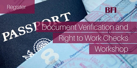 Document Verification and Right to Work Checks Workshop tickets
