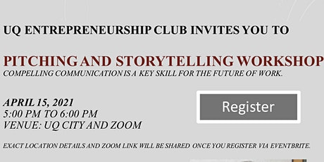 Pitching and storytelling workshop tickets