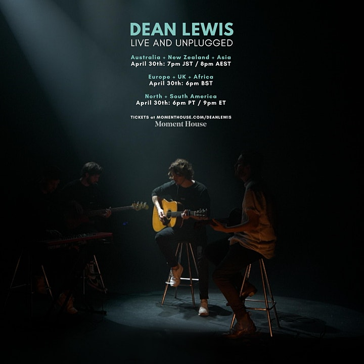 DEAN LEWIS - LIVE AND UNPLUGGED - LIVESTREAM image