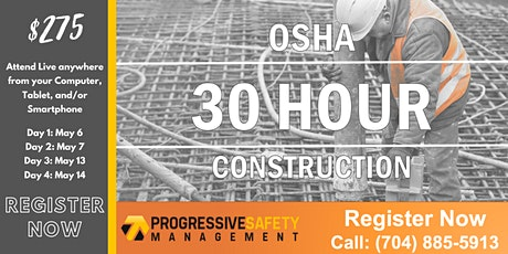 OSHA 30 - Construction tickets
