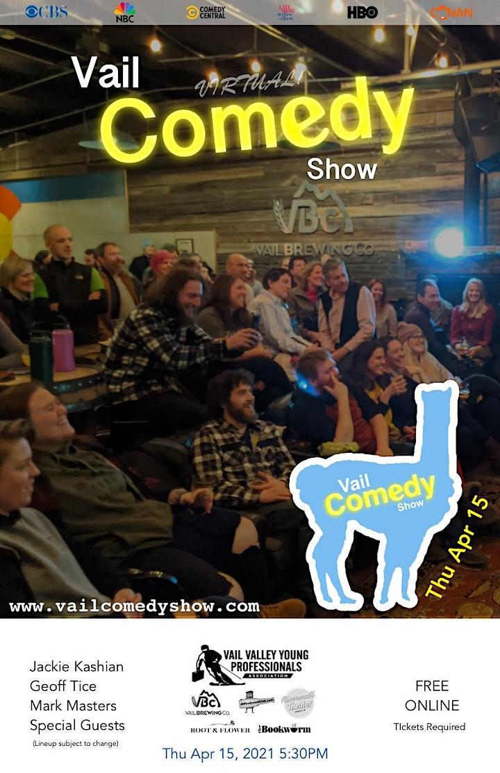 Vail Comedy Show (Online) - April 15, 2021 image