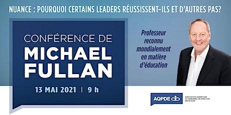 Conférence de Michael Fullan billets