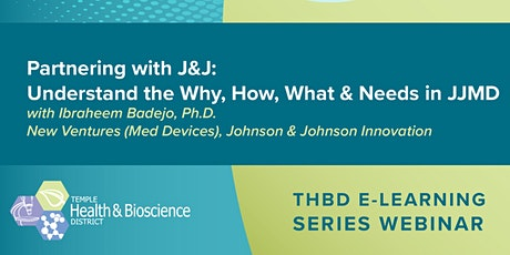 Partnering with Johnson & Johnson:  Understand the Why, How, What & Needs tickets