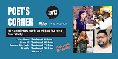 April Poet's Corner Weekly Workshops tickets