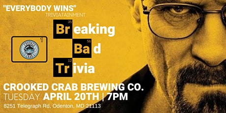 Breaking Bad Trivia at Crooked Crab Brewing Company tickets