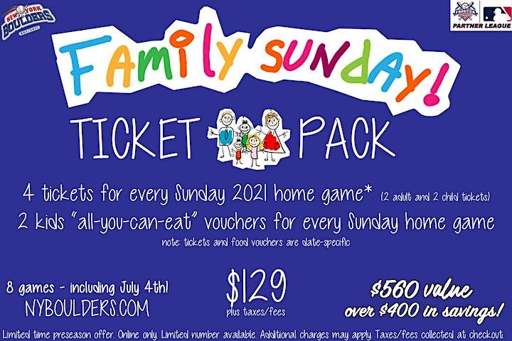 New York Boulders Family Sunday Pack image