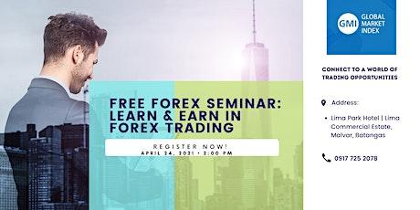 Learn & Earn In Forex Trading tickets