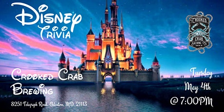 Disney Movie Trivia at Crooked Crab Brewing tickets