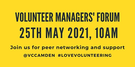 May 2021 Online Volunteer Managers' Forum tickets