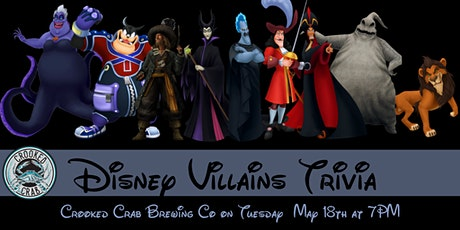 Disney Villains Trivia at Crooked Crab tickets