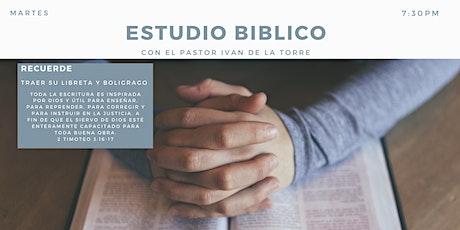 Estudio Bíblico 7:30pm entradas