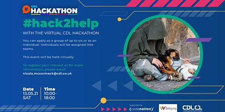 "CDL's ""Hack to Help"" Virtual Hackathon tickets"
