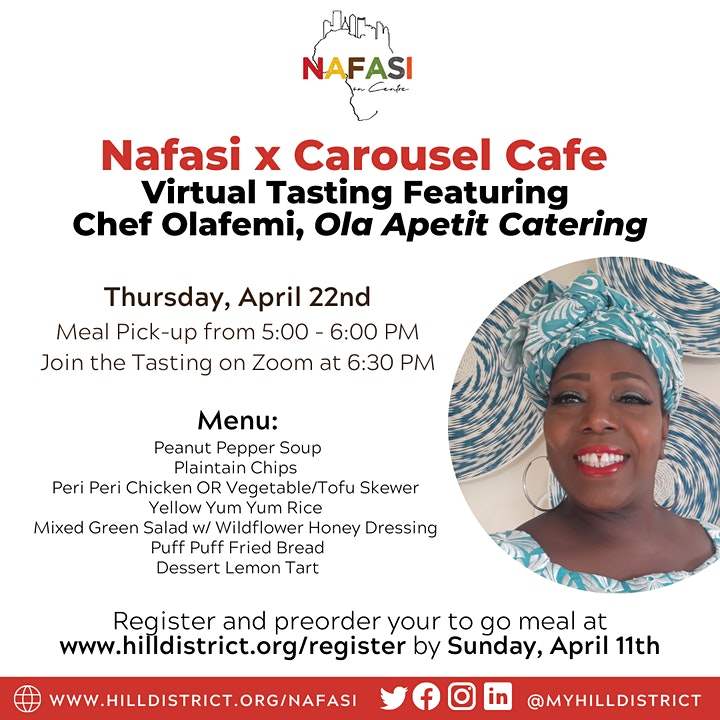 Nafasi x Carousel Cafe: Virtual Tasting with Chef Olafemi image