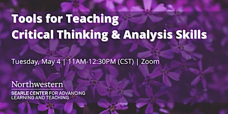 Tools for Teaching  Critical Thinking & Analysis Skills tickets